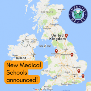 map of new uk medical schools